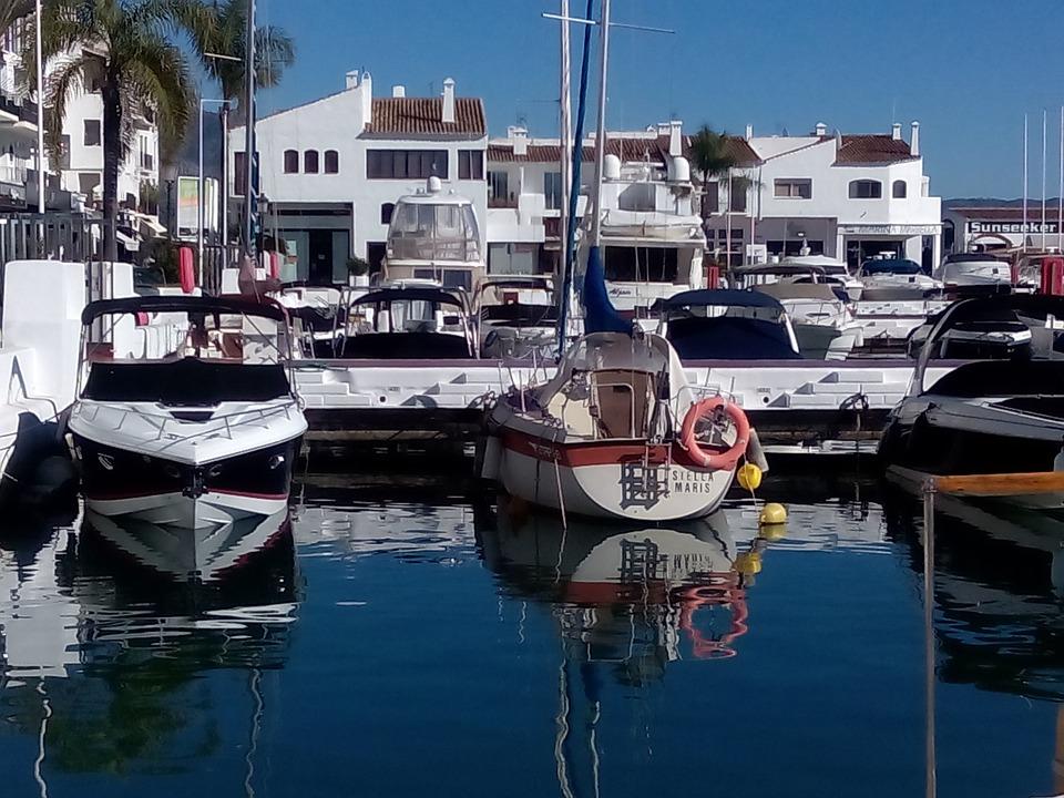 Port, Boats, Marina, Yachts, Costa Del Sol, Spring