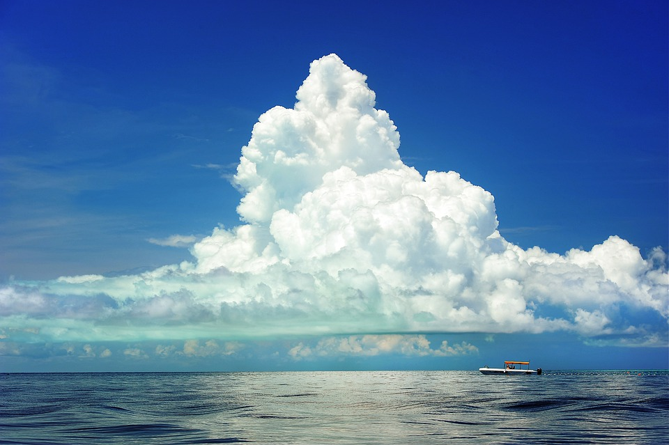 Sea, Boat, Clouds, Cumulous, Marine, Ocean, Travel, Sky