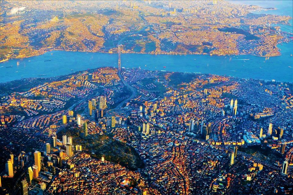 Istanbul, City, Marine, Landscape, Buildings, Bridge