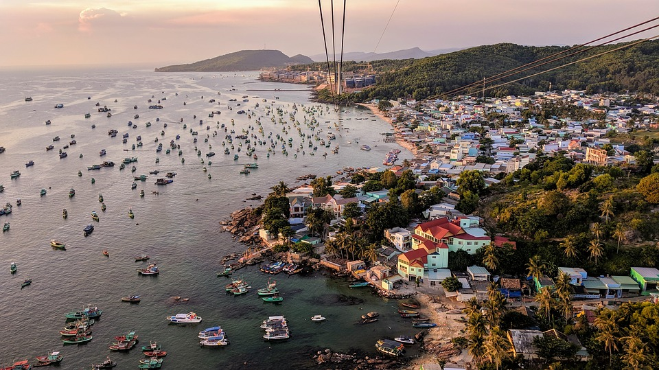 Sea, Port, Boats, Phu Quoc, Vietnam, Cable Car, Marine