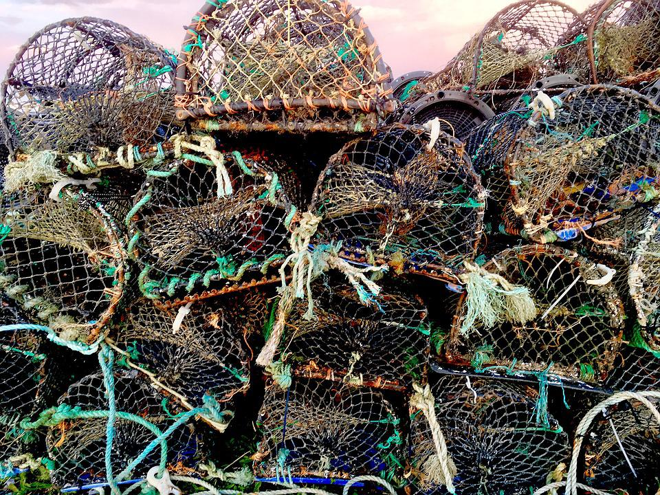 Lobster Pots, Fishing, Port, Dock, Galway, Marine, Trap