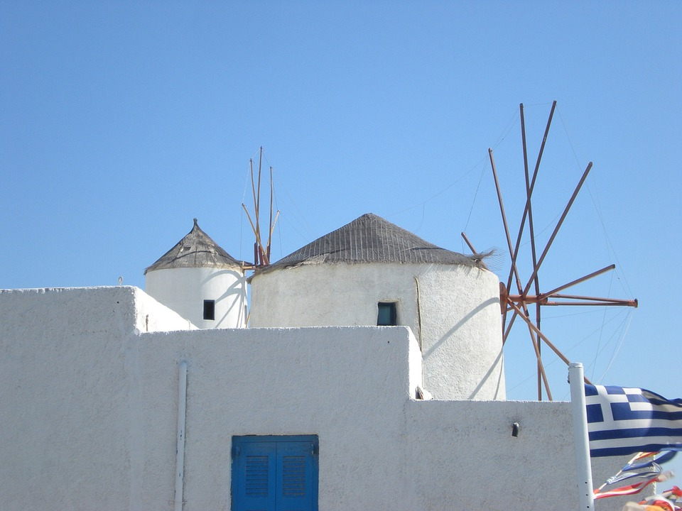 Santorini, Greek Island, Greece, Marine, Windmill