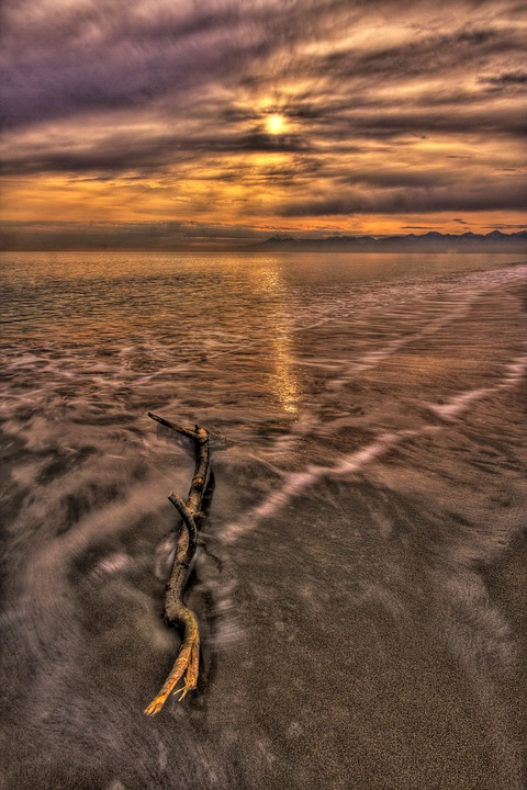 Beach, Solar, Hdr, Landscape, Sunset, Marine, Nature
