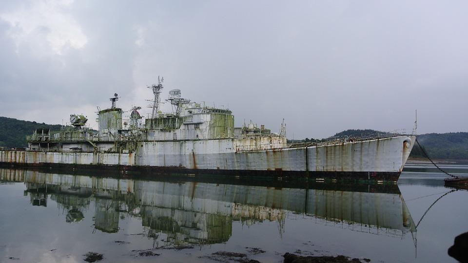 Ship, Boat, Marine, Abandoned, Sinister, Military