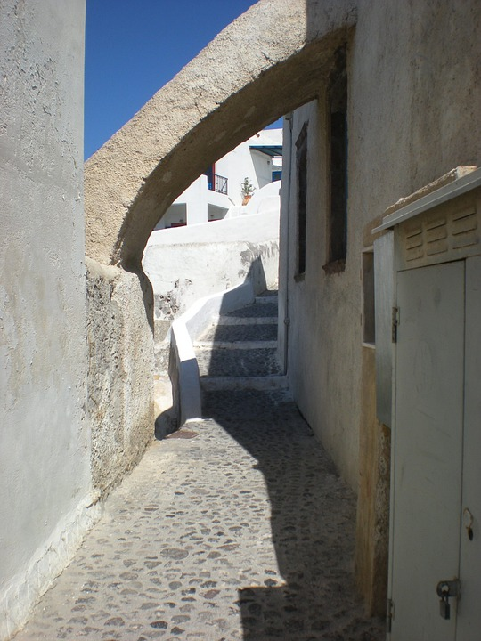Santorini, Greek Island, Greece, Marine, Street View