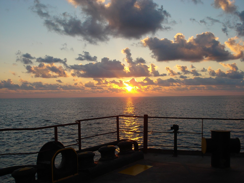 Marine, Horizon, Landscape, Sunset, The Setting Sun