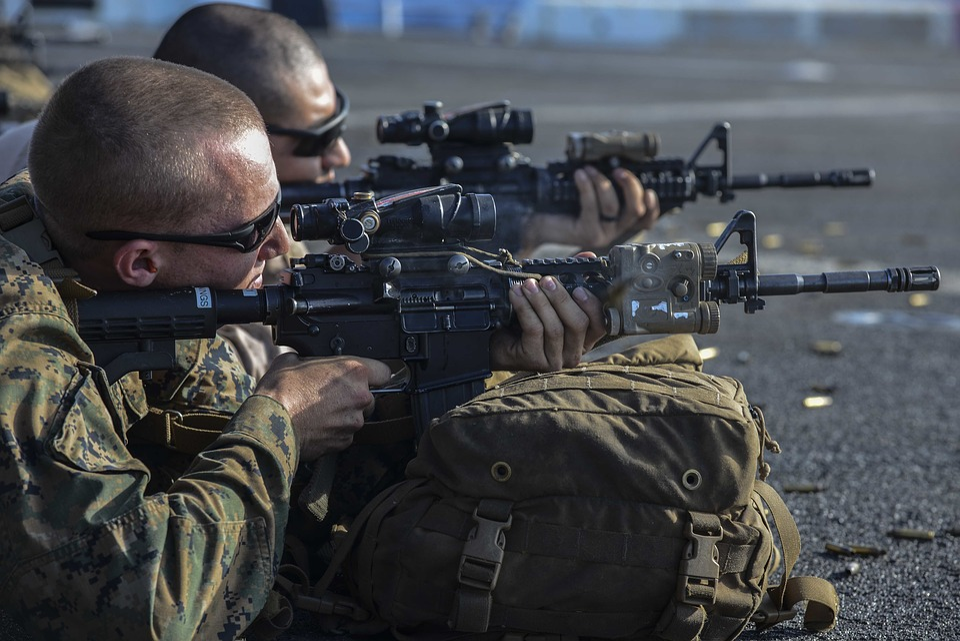 Marines Usmc M4a1 Carbine Training Exercise
