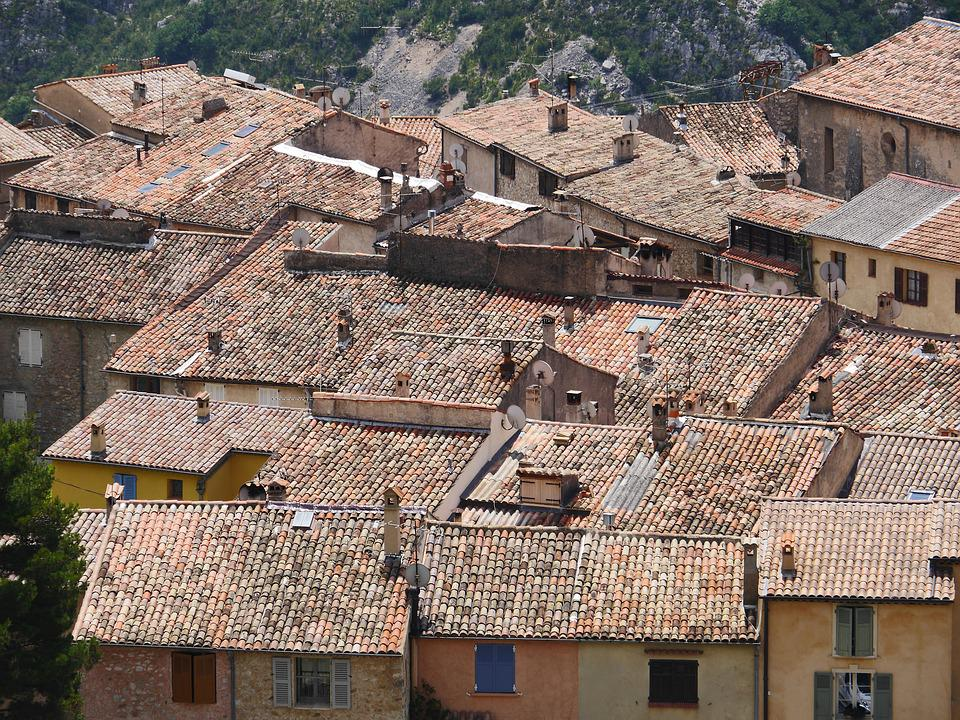 Southern Roofs, Clay Pans, Maritime Alps
