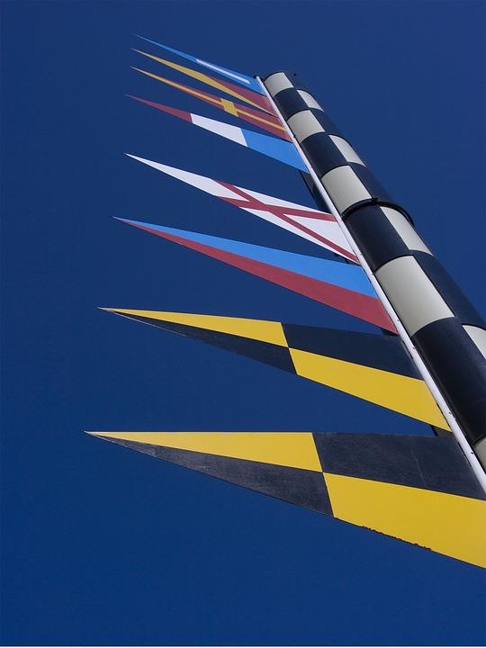 Barcelona, Maritime Flags, Port Vell