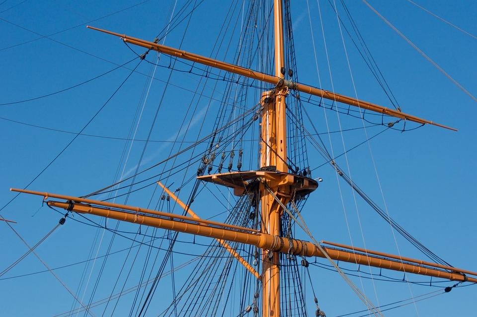 Rigging, Sailing, Ship, Vessel, Sailboat, Maritime