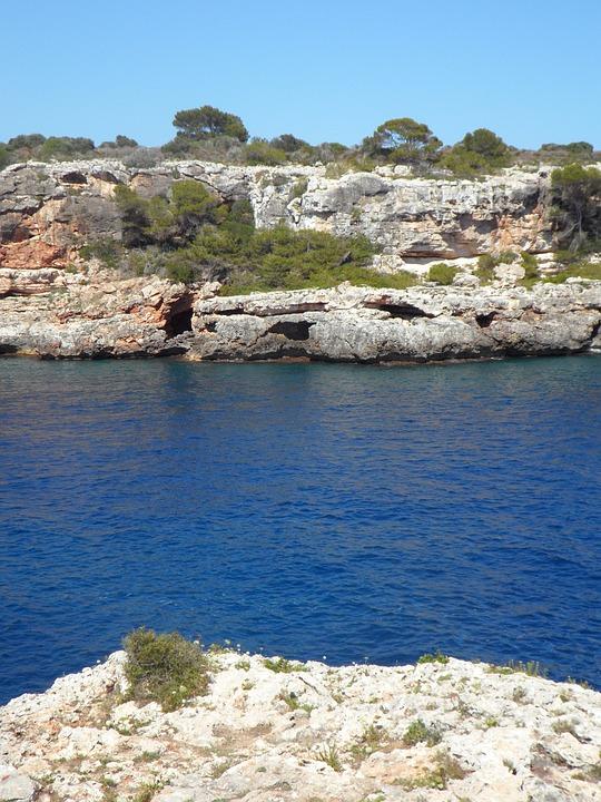 Booked, Maritime, Rock, Mallorca, Mediterranean, Water