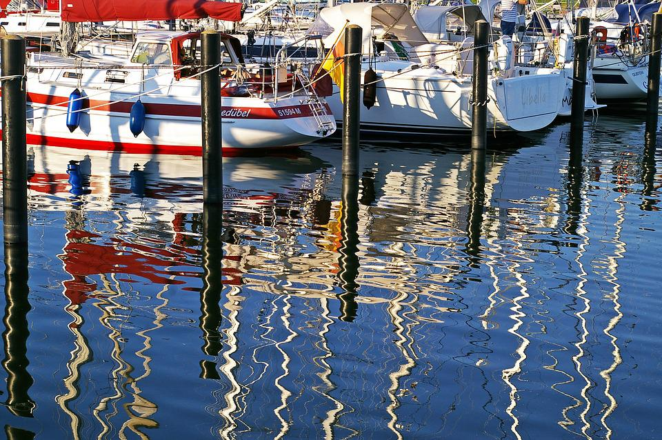 Sailing Boat, Marina, Port, Water, Mirroring, Maritime