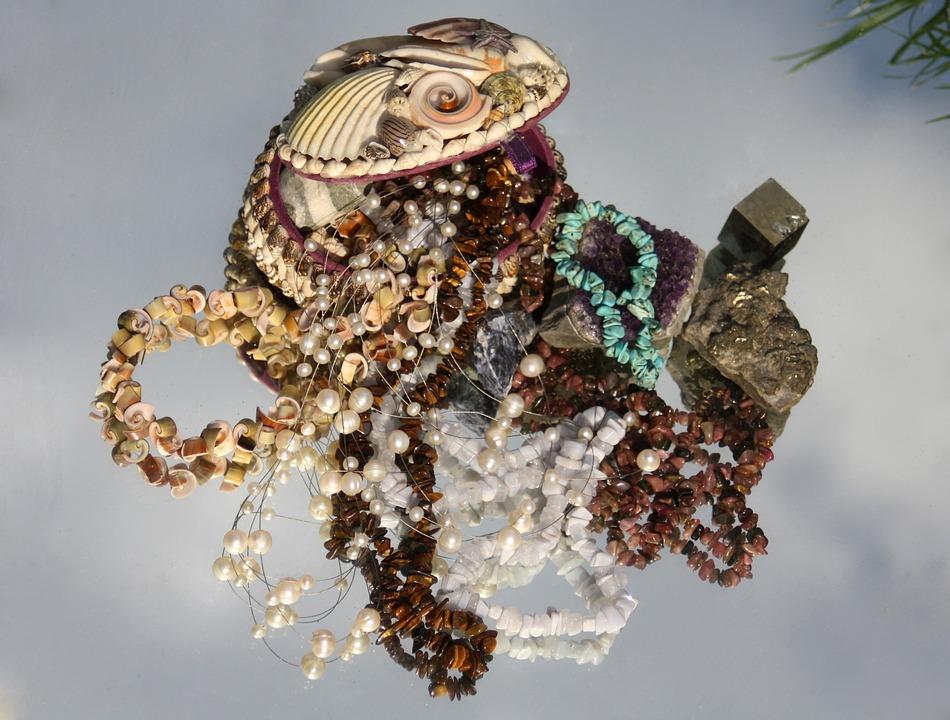 Treasure, Gems, Box, Treasure Chest, Maritime