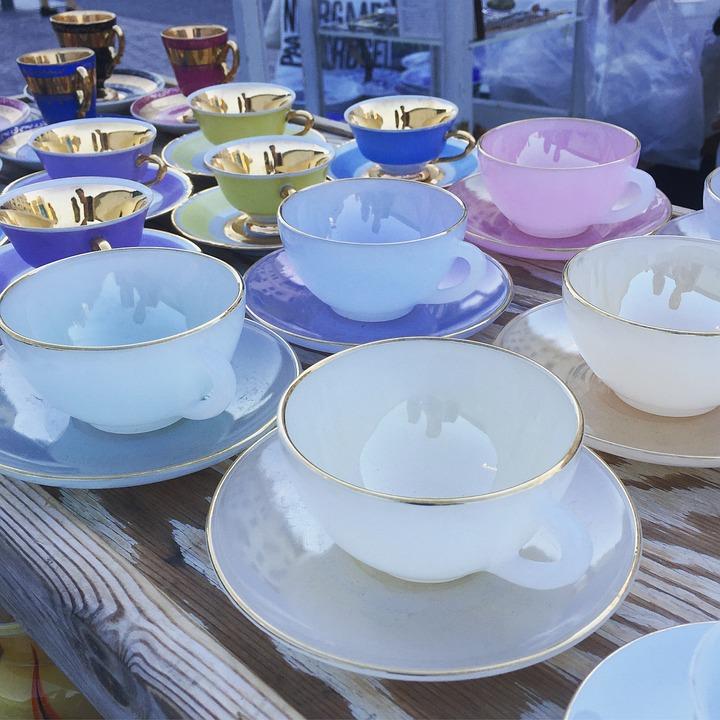 Market, Cups, Antique, Mark