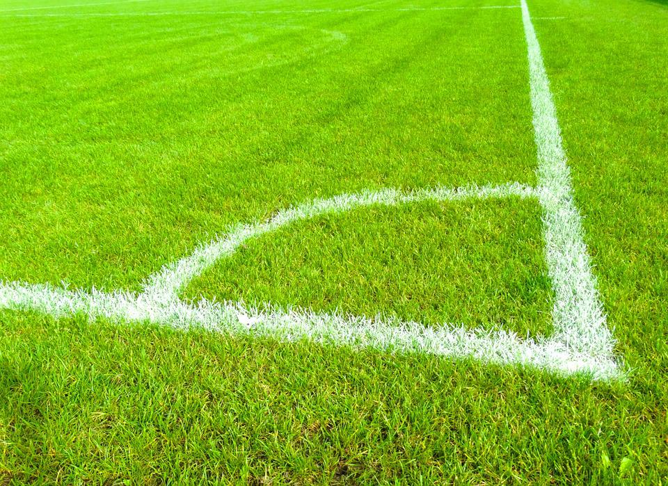 Football Field, Grass, Mark, Corner, Football Meadow