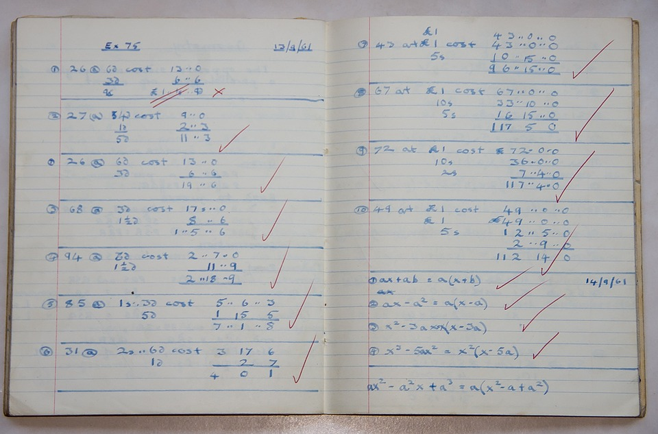 School, Book, Maths, Sums, Money, Teacher, Marked