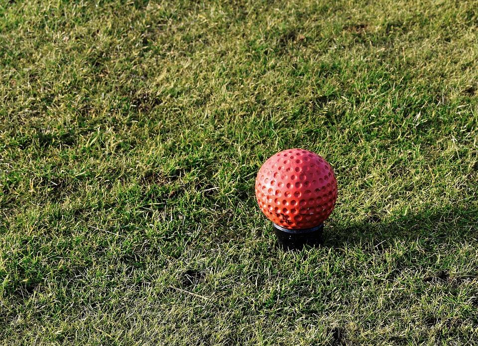 Golf, Tee Marker, Red, Teeing Ground, Marker, Tee