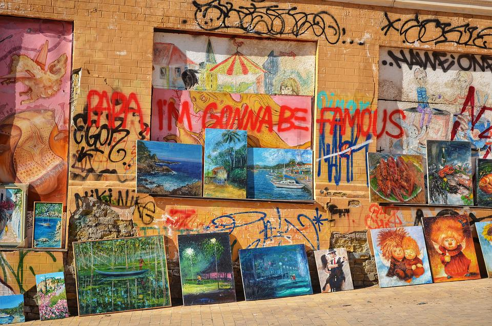 Art, Street, Market, Graffiti, Pictures, Brick Wall