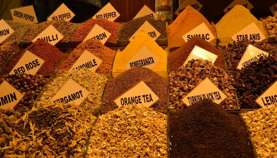 Tee, Bazar, Bazaar, Spice, Spices, Dried, Market