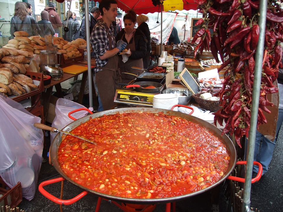 Street Food, Market, Big Pan, London, Notting Hill