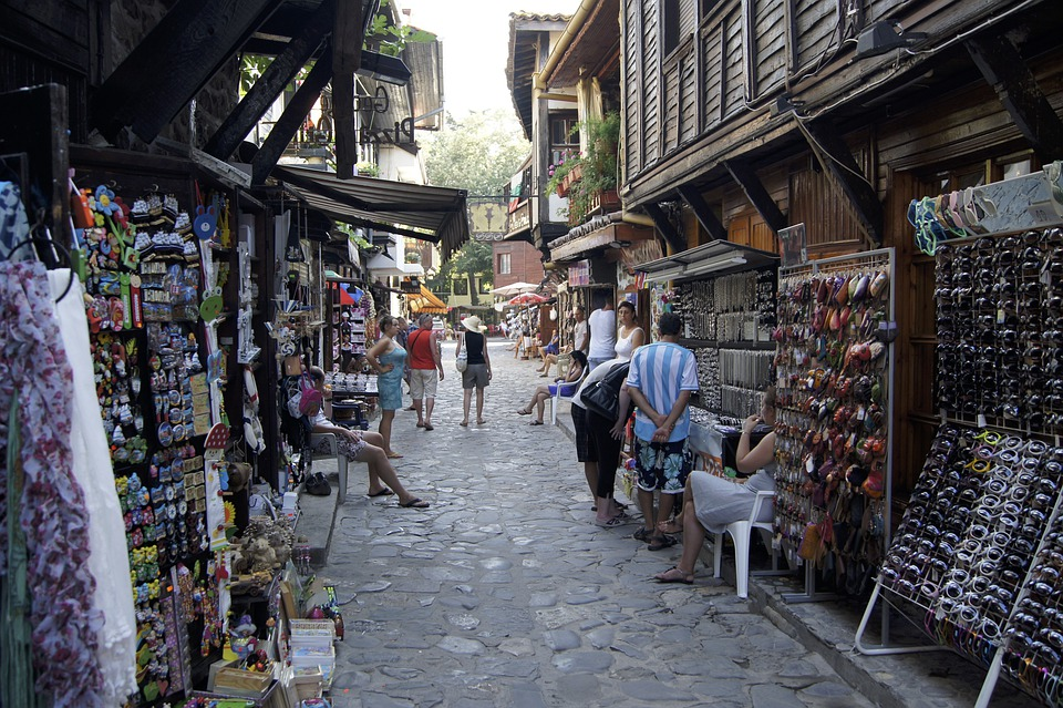 Bulgaria, Old Town, Street, Market, Booth, Seller