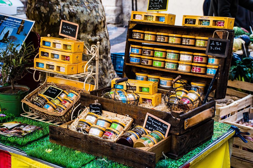 Candles, Scented, Market, Outdoor, Display, Decoration