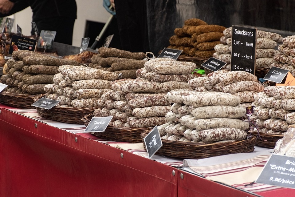 Sausages, Saucisson, Delicatessen, Market Day