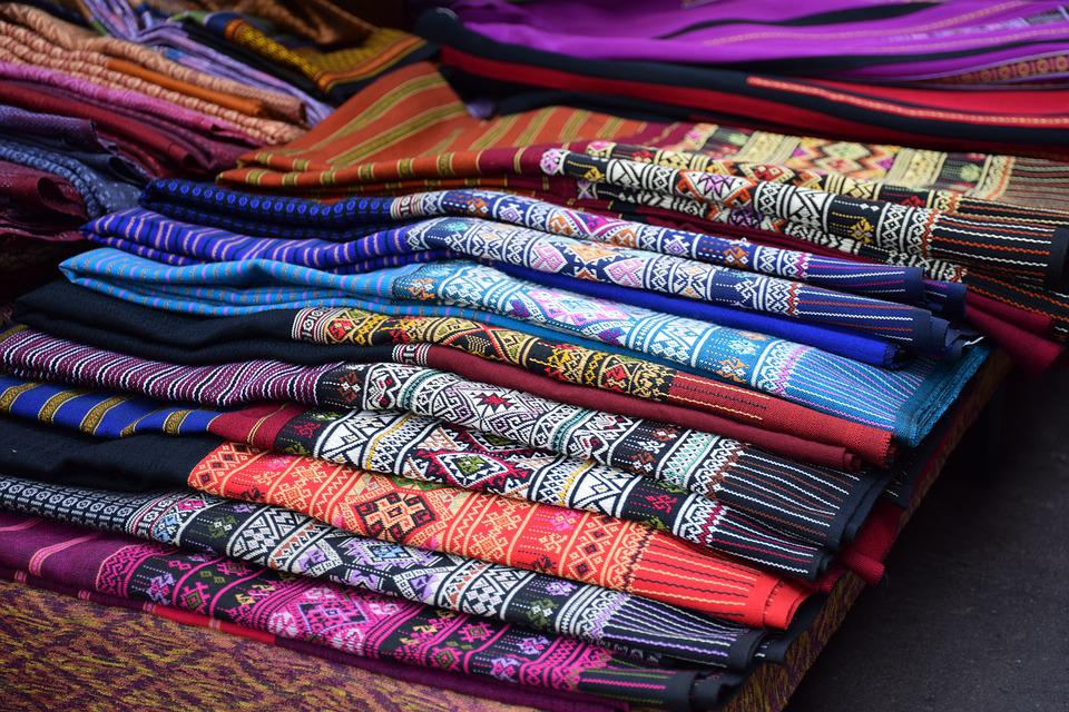 Fabric, Colors, Jewelry, Market, Scarf