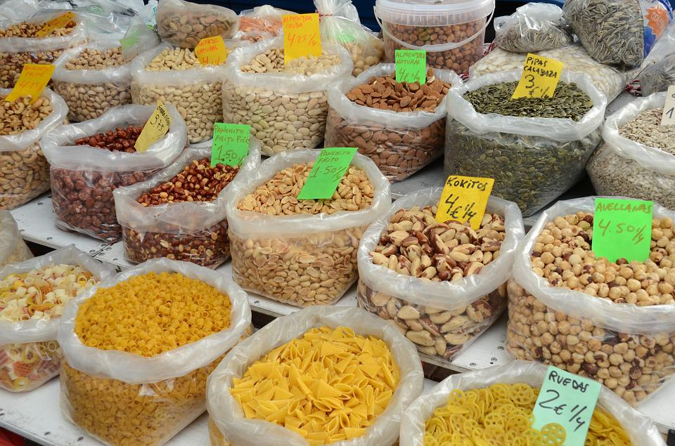 Nut, Nuts, Pasta, Food, Market, Vermicelli, Product