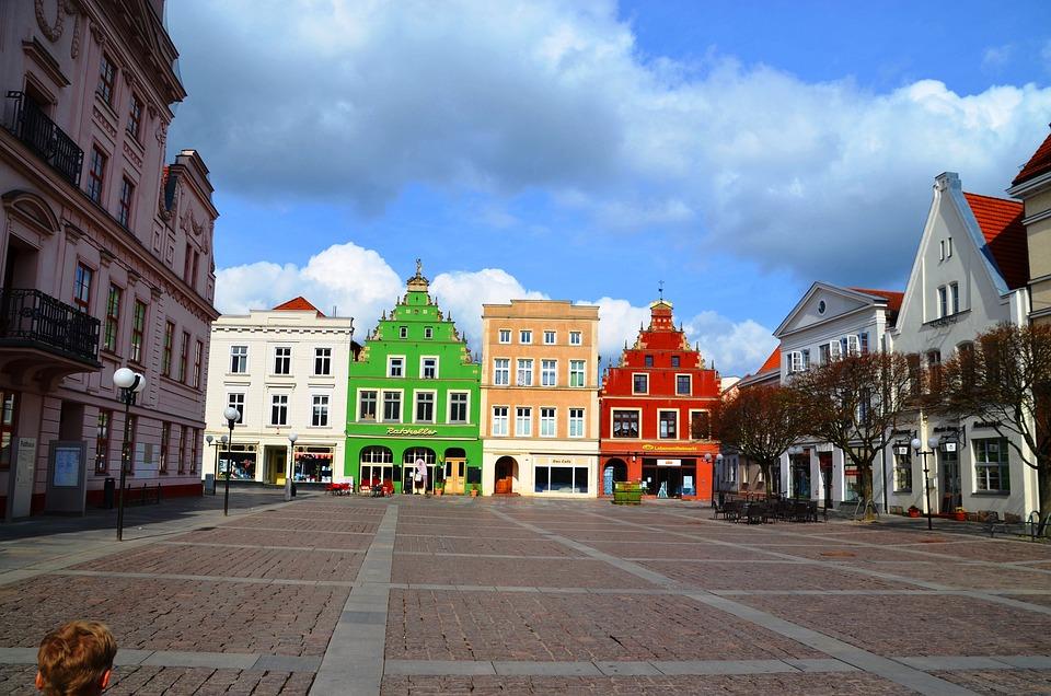 Market, Güstrow, Mecklenburg