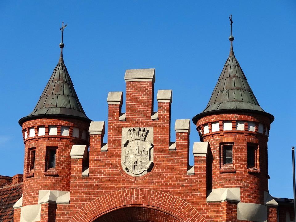 Market Hall, Bydgoszcz, Historic, Building, Gate