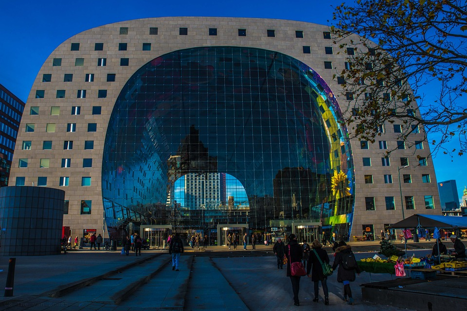 Rotterdam, Market Hall, Light, Lights, Atmosphere
