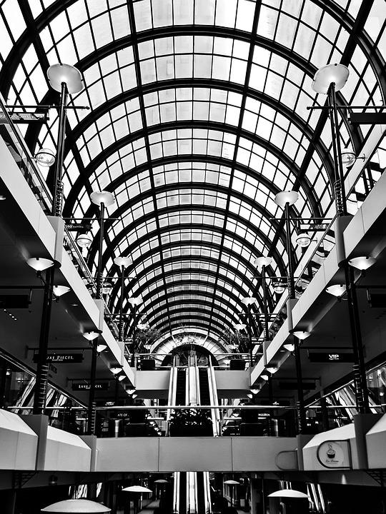 Shopping Centre, Stairs, Market Hall, Escalator
