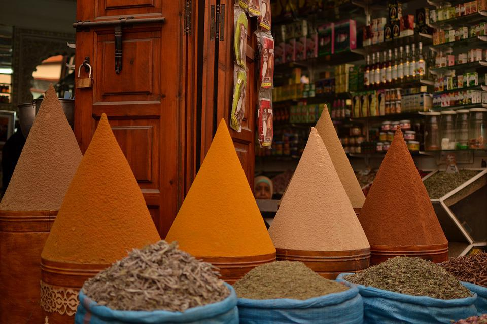 Maroko, Trhy, Morroco, Bazar, Market, Spices, Orient