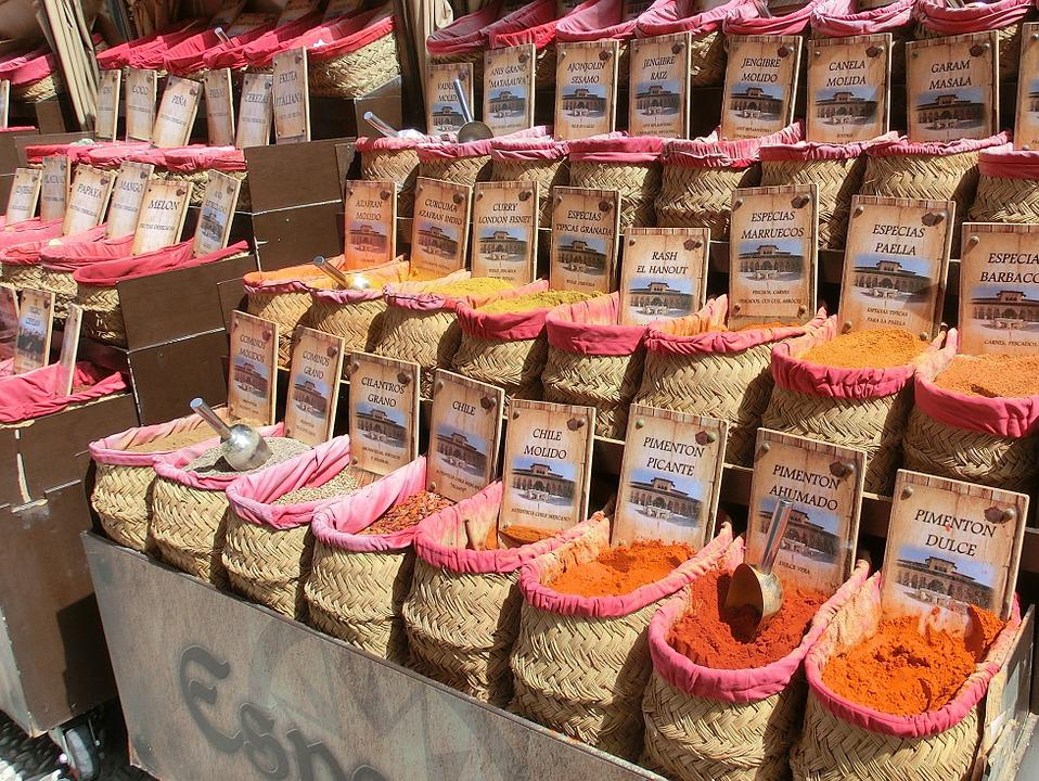 Spices, Market, Granada, Spain, Andalusia, Business