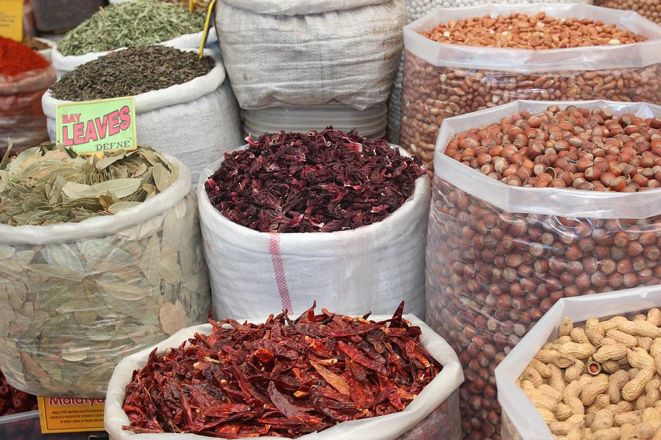 Spices, Dried, Market, Turkey