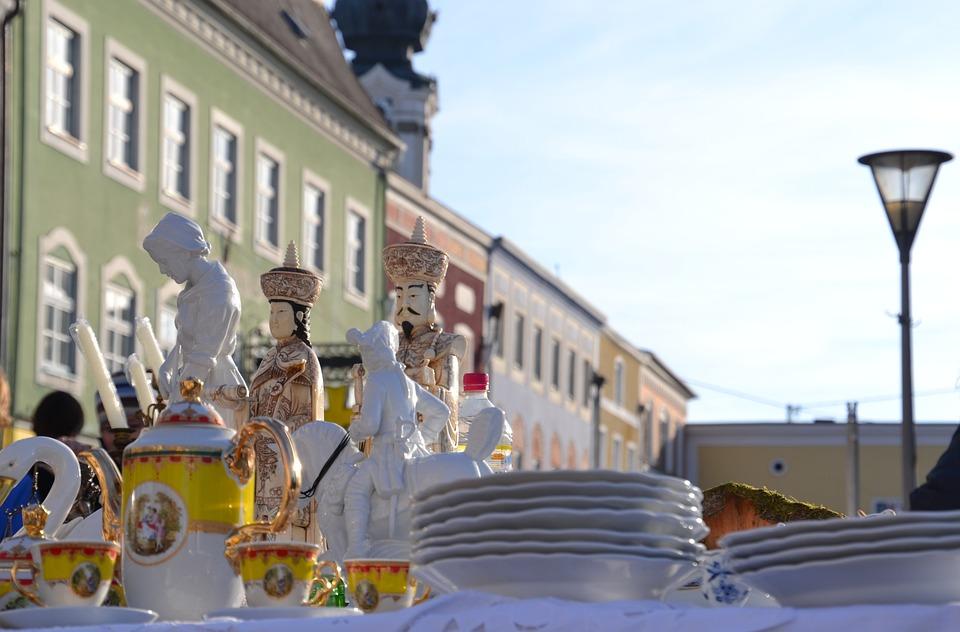 Market, Flea Market, Stand, Antiques, Tableware, Browse