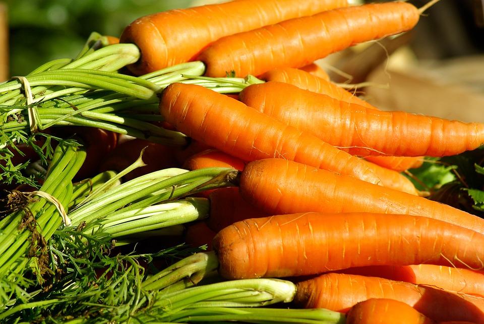 Vegetables, Carrots, Vegetable Garden, Market