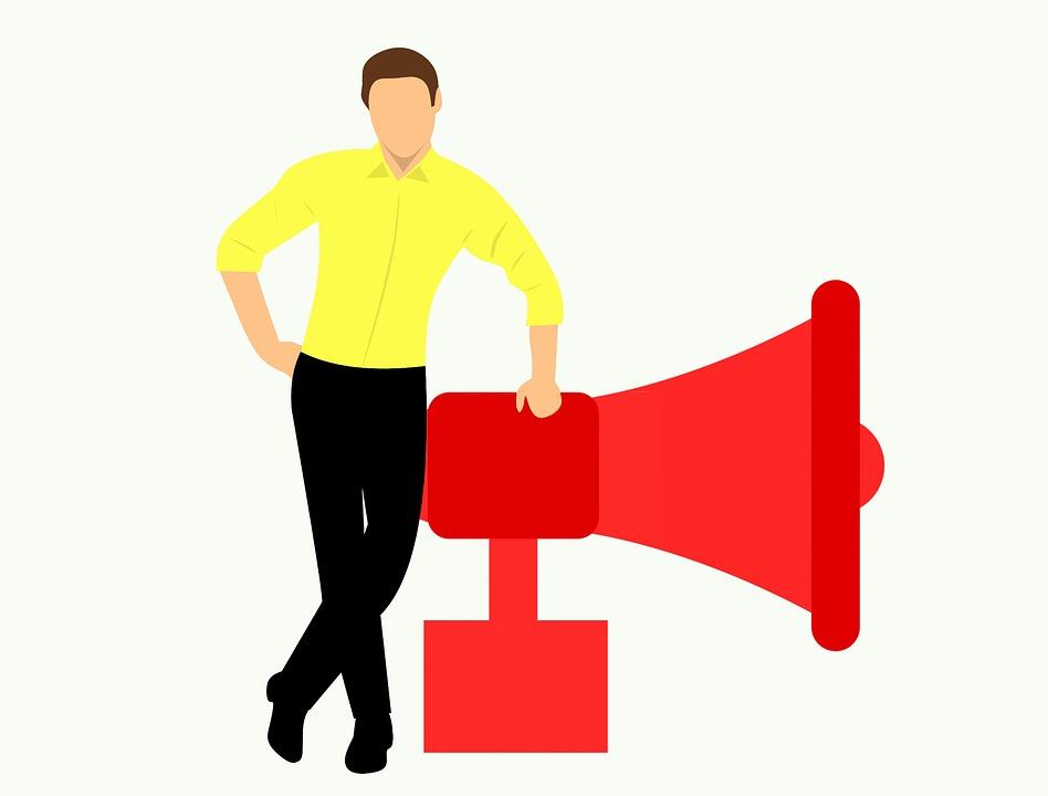 Campaign, Marketing, Marketeer, Megaphone, Scream