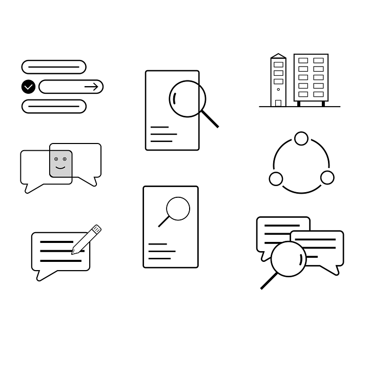Office Icons, Office, Icon, Set, Marketing, Symbol