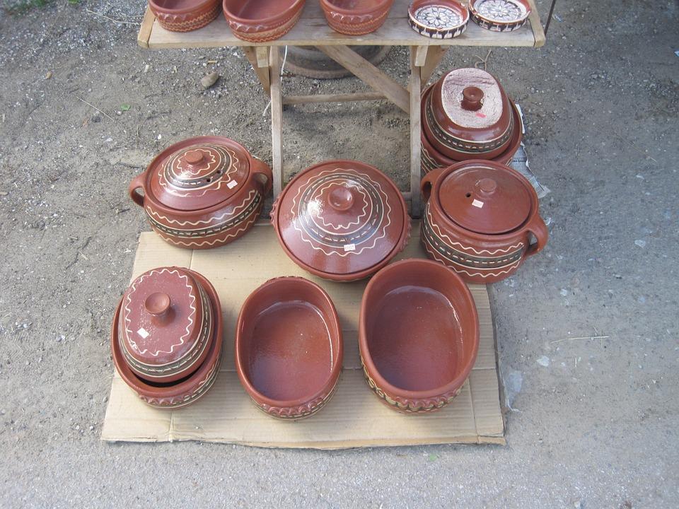 Shells, Pots, Ceramic, Markets, Craft