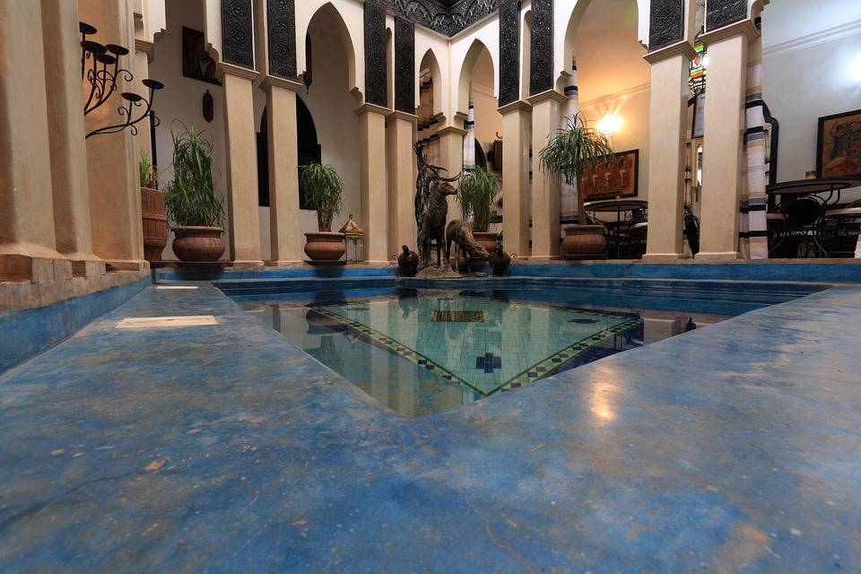 Morocco, Hotel, Indoor, Pool, Guesthouse, Marrakech