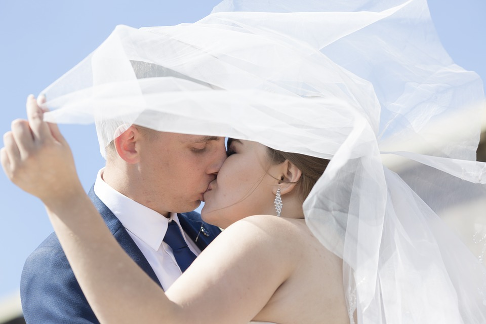 Bride, The Groom, Woman, Marriage, Happiness, Veil