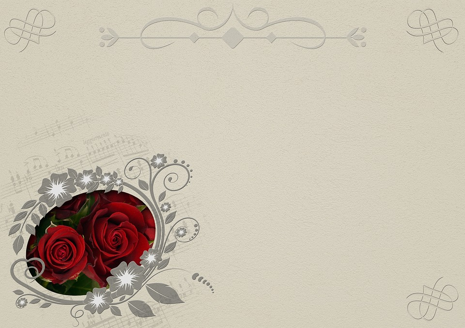 Roses, Frame, Background Image, Marriage, Wedding