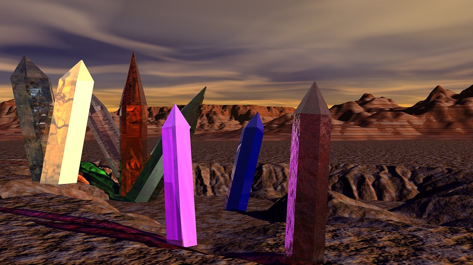 Desert, Crystals, Mars