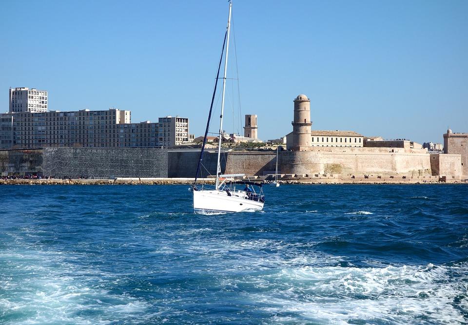 Marseille, Port, Mediterranean, Boot, Wave, Water