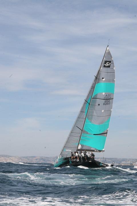 Sailboat, Race, Sea, Marseille, France