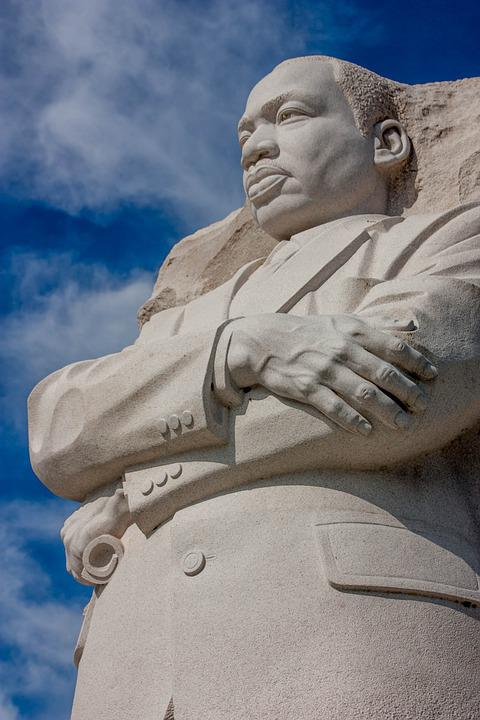 Martin Luther King, Monument, Statue, America