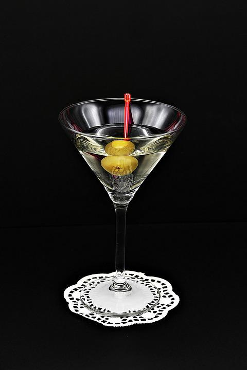 Cocktail, Martini, Olive, Drink, Gin, Alcoholic