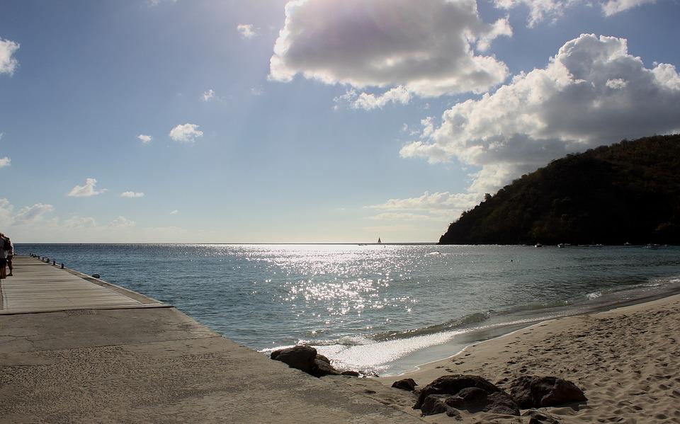 Martinique, Sky, Beach, Caribbean Sea